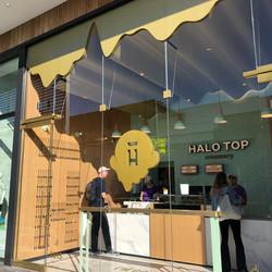 Halo Top storefront entrance logo
