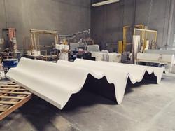 fiberglass cast panels process