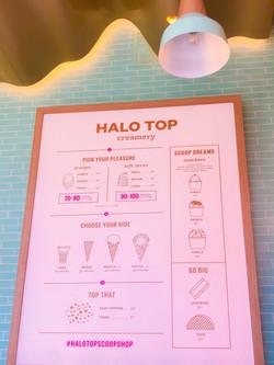 Illuminated menu sign with oak frame