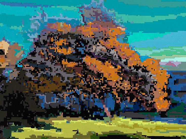 Autumn Rebellion_Acrylic on Panel_16x20_