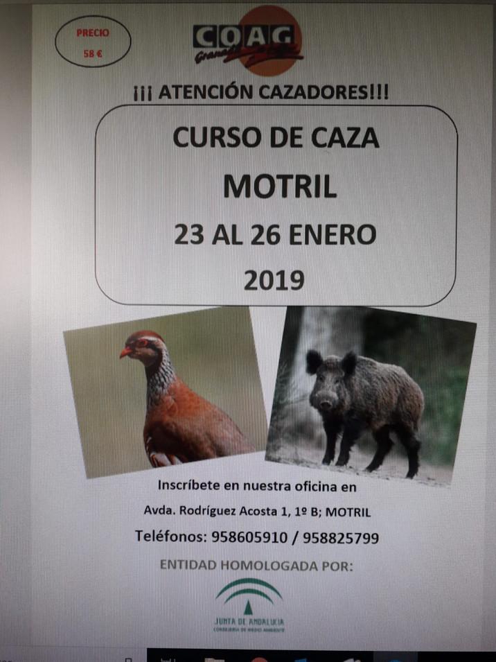 CURSO DE CAZA EN MOTRIL