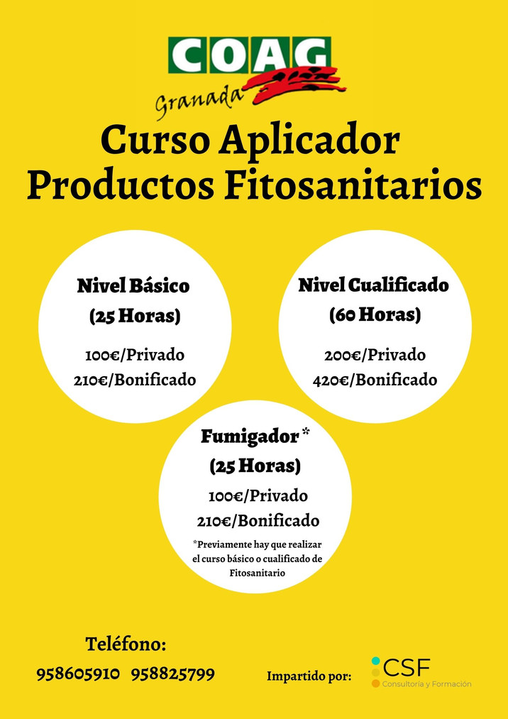 CURSOS APLICADOR PRODUCTOS FITOSANITARIOS