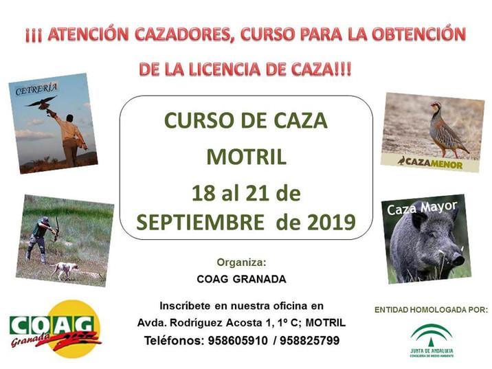 CURSO DE CAZA EN MOTRIL, 18 AL 21 DE SEPTIEMBRE DE 2019