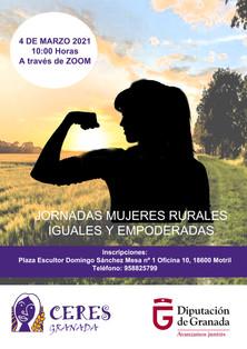 CERES GRANADA: JORNADAS MUJERES RURALES IGUALES Y EMPODERADAS. 4 MARZO 2021.