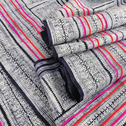 Pink and Blue Indigo fabric