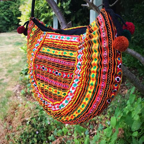 Helinka Hmong Half Circle Cross Body Bag 1