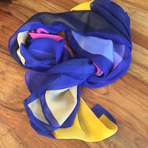 Purple Abstract Art Chiffon Scarf