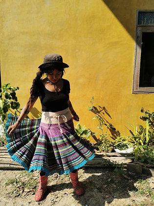 Iris Purple Haze Vintage Hmong Skirt