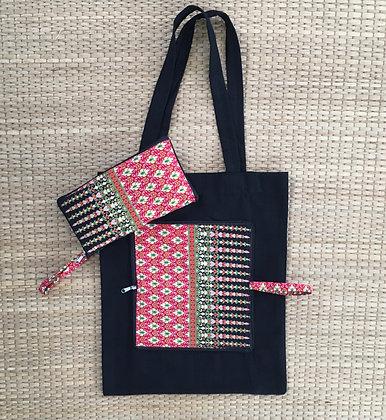 Strawberry Bali Batik Eco Friendly Reusable Folding Tote Bag- FREE POST