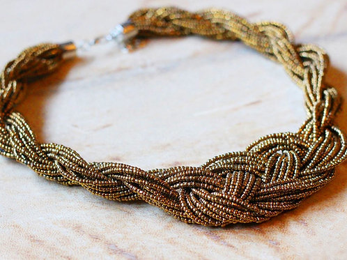 Empress Gold Beaded Cluster Necklace