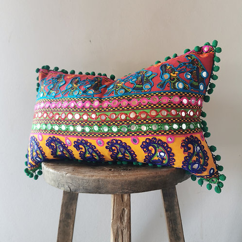 colorful indian pillow