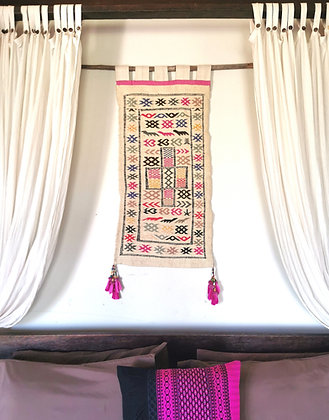 Gisele Vintage Moroccan Kilim Wall Tapestry- Hand Knotted RARE