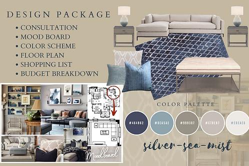 Blue and Grey Interior Design Concept