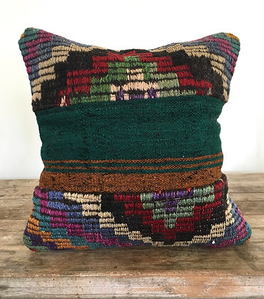 Kas Kilim Cushion Cover- Parrot Punch FREE SHIPPING