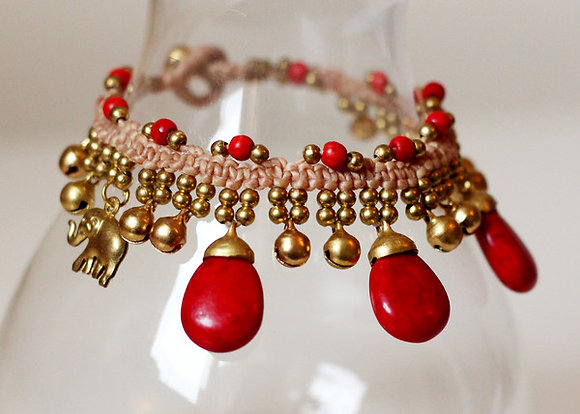 Jemima Bracelet- Ruby Red