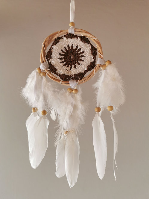 Coco Crochet Angel Feather Dreamcatcher- Small