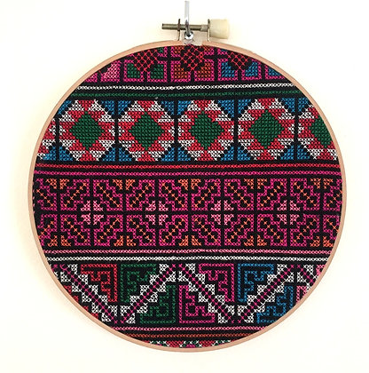 Yao Hill Tribe Hoop Embroidery Wall Art- FREE SHIPPING