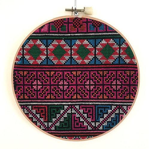 Yao Hill Tribe Hoop Embroidery Wall Art