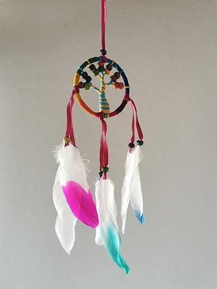 Mini Tree Multi Macrame Feather Dreamcatcher