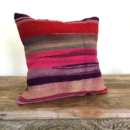 Kas Kilim Cushion Cover- Very Berry FREE SHIPPING