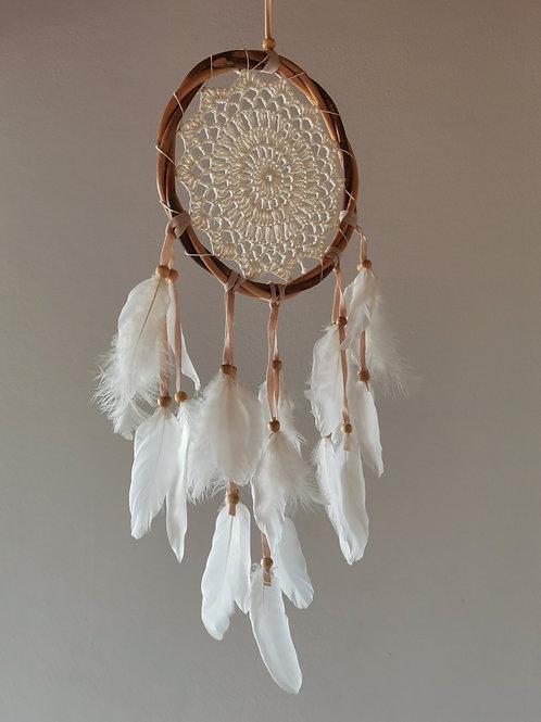 Spirit Sense Crochet Dreamcatcher- White
