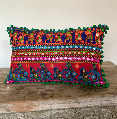 Bollywood Disco Ball Pom Pom Cushion Cover FREE SHIPPING