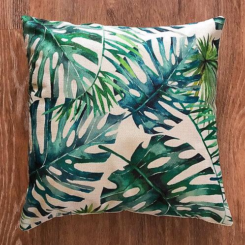 Monstera Deliciosa Leaf Cushion Cover