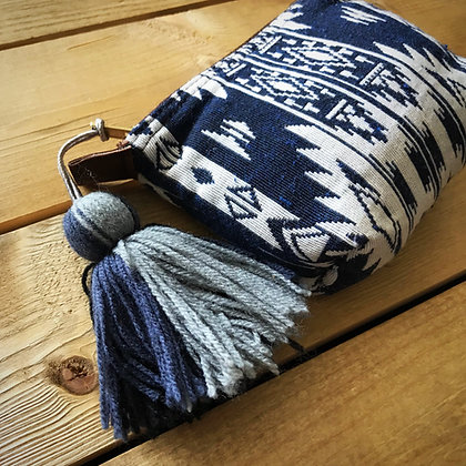 Navajo Purse with Tassel- Lanna Indigo Blue