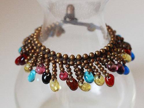 Jemima Bracelet- Brass and Multi Beads