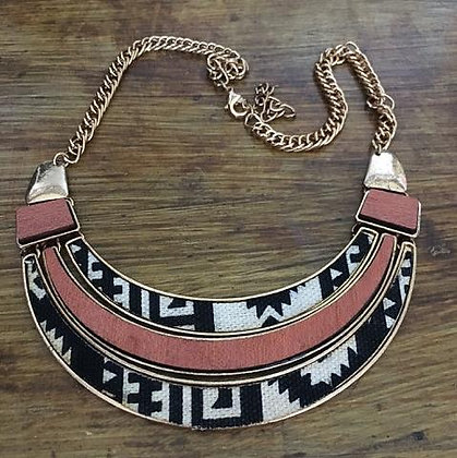 African Tribal Pattern Necklace