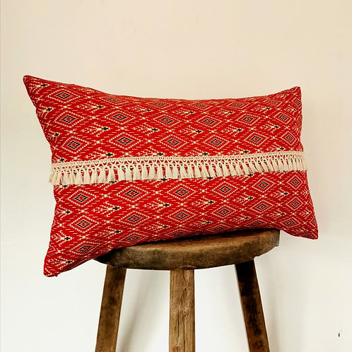 Red navajo pillow