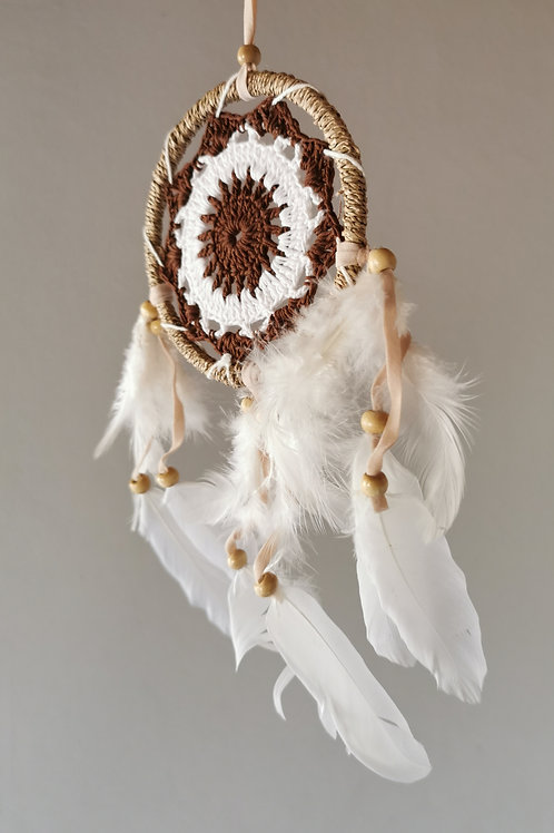 Raffia Coco Angel Wing Feather Dreamcatcher- Medium