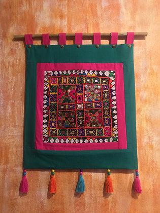 Vintage Rare Kutch Rabari Textile Art Wall Hanging- FREE SHIPPING