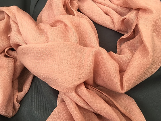 Organic Woven Cotton Scarf- Rose Bud