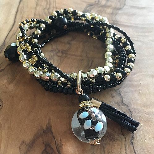 Bundle of Joy Charm Bracelet Stack- Midnight