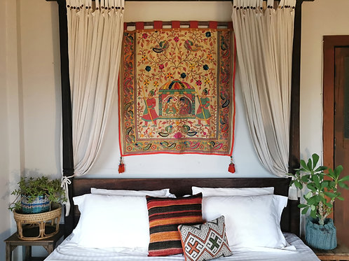 Indian Wedding Embroidered Wall Hanging Tapestry