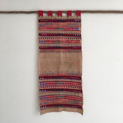 Rare Akha Hill Tribe Appliqué Wall Hanging- FREE SHIPPING
