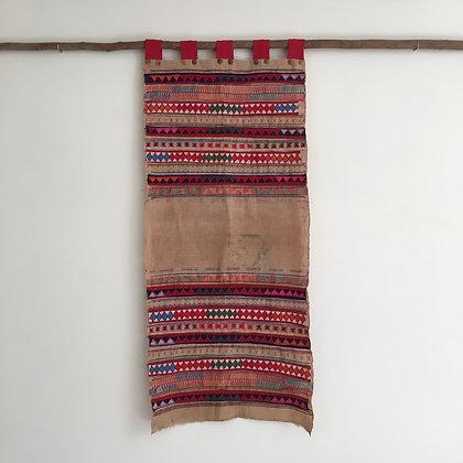 Rare Akha Hill Tribe Appliqué Wall Hanging- FREE SHIPPING