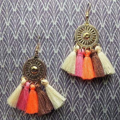 Neapolitan Boho Tassel Earrings