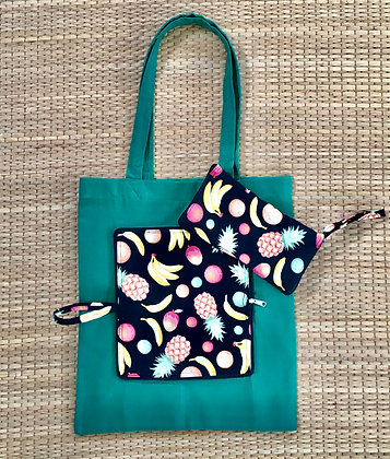 Juicy Fruit Fruitarian Eco Friendly Reusable Folding Tote Bag- FREE POST