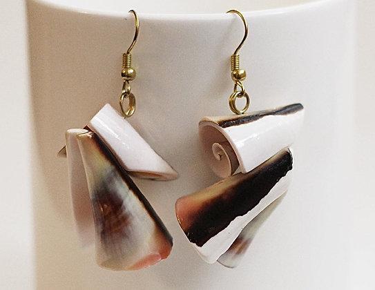 Ariel Cone Shell Twist Boho Earrings