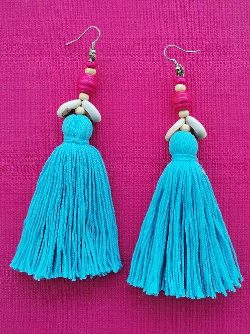 beach holiday earrings