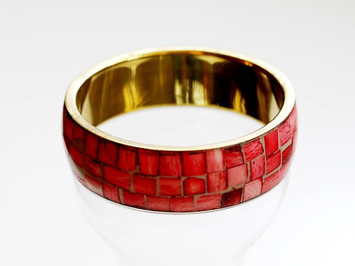 Sophia Cherry Bangle- Mother of Pearl and Brass