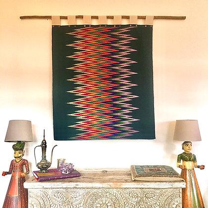 Burmese Days Ikat Rainbow Zig Zag Wall Hanging Tapestry- FREE SHIPPING