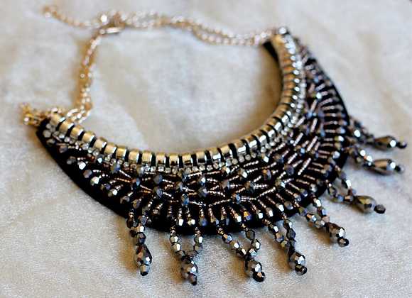 Gatsby Gold Beaded Necklace