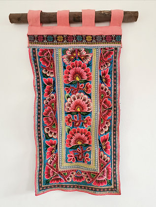 Chinese Hmong Embroidered Textile Wall Hanging- FREE SHIPPING