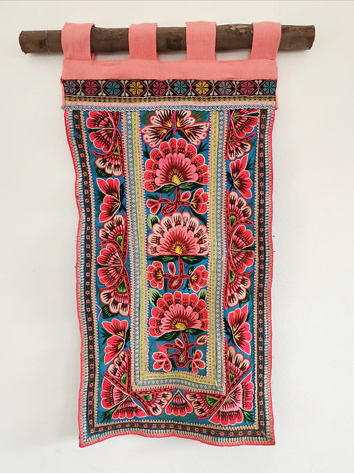 Chinese Hmong Embroidered Textile Wall Hanging