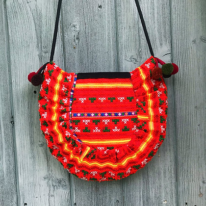 Helinka Hmong Half Circle Cross Body Bag 2