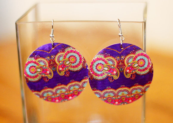 Pearly Queen Earrings- Purple Paradise Parrot