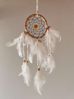 Peace Man- Rainbow Dove Dreamcatcher- Small